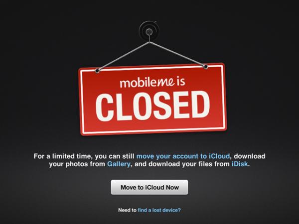 MobileMe je zatvoren