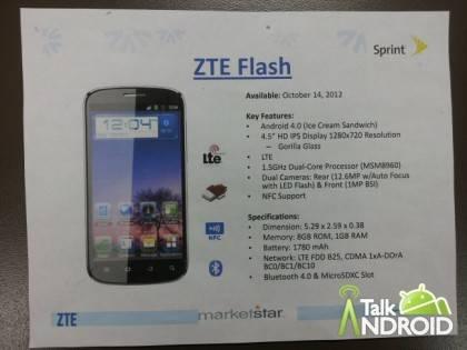 ZTE će izbaciti novi telefon, ZTE Flash