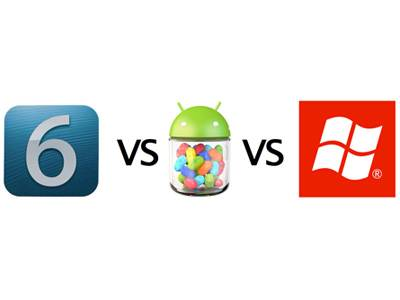 Poređenje: iOS6, Android 4.1 Jelly Bean i Windows Phone 8