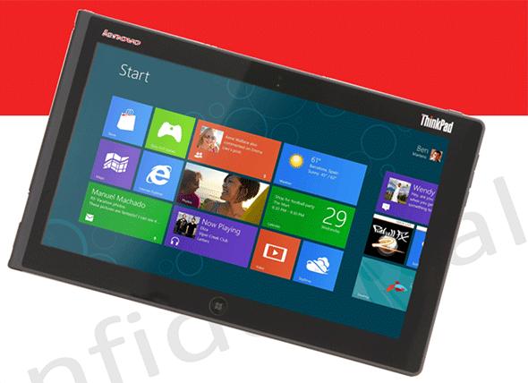 Izašle su slike novog Lenovo ThinkPad tableta sa W8 platformom