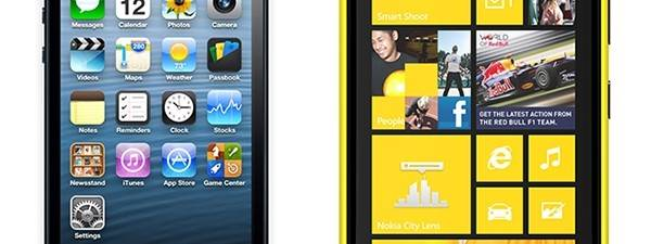 iPhone 5 vs. Nokia Lumia 920 (infografika)