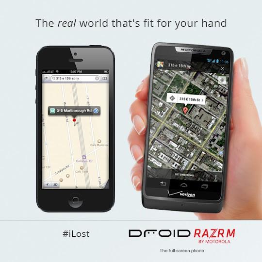 Google preko Motorole ismeva Apple mape