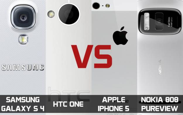 Poređenje kamera: Galaxy S IV, HTC One, iPhone 5 i Nokia 808 PureView