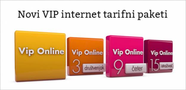 Novi Vip internet tarifni paketi